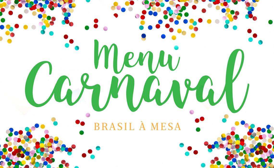 Menu Carnaval 2018
